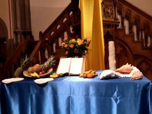 autel aux couleur des Bahamas