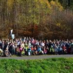 Photo de groupe à l'arrivée à Lutzelbourg