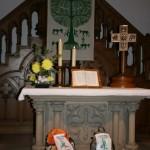 Église de Saverne ; les sacs sont prêts