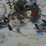 les tables sont décorées...